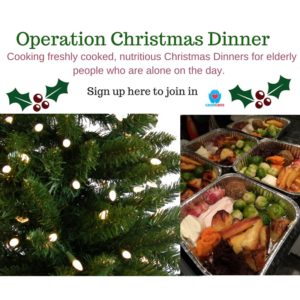 "this image shows a banner for ""Operation Christmas Dinner"""