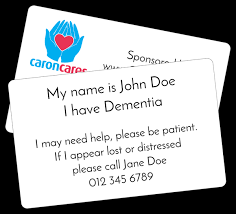 this image shows my newly rebranded dementia assistance card.
