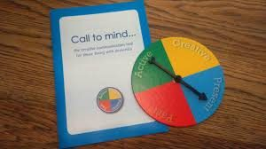 "this image shows the "" Call to mind"" conversation starting board game"