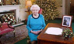This image shows the Queen on Christmas Day