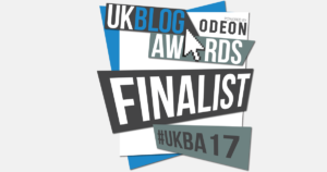 this image shows the UK Blog awards logo for 2017