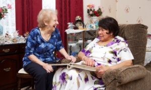 this image shows an older carer June Sheppard