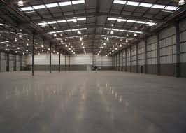this image shows an empty warehouse