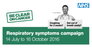 "this image shows the campaign material for "" Be clear"" on cancer"