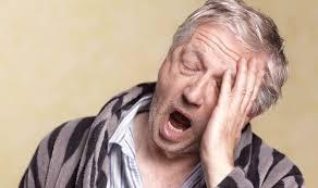this image shows someone yawning