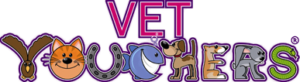 "This image shoes the words ""Vet Vouchers"" made out of animals"