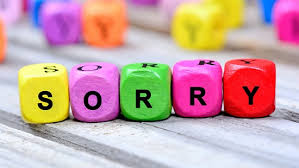 this image show the word sorry made of of individual cubes