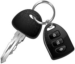 this image shows a single car key and modern fob