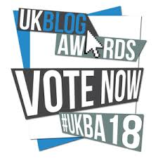this image shows the UK Blog Awards logo for 2018
