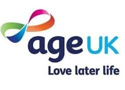 this shows the age Uk logo and the words, Age UK, love later life